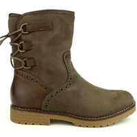 Chaussures Femme Bottines Cendriyon Bottines Taupe Chaussures Femme Taupe