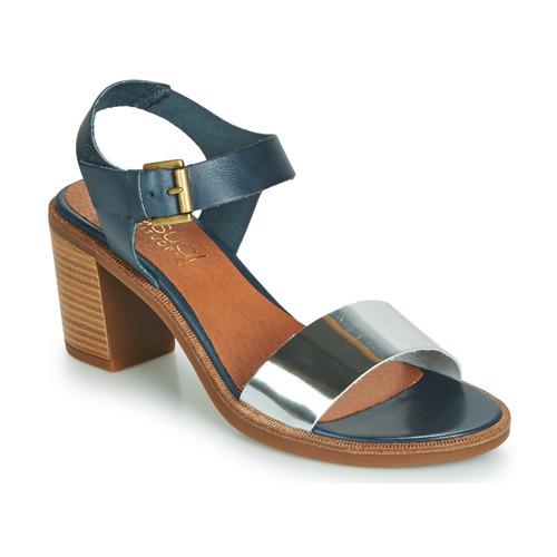 f677f4e6c8fe5e Chaussures Femme Sandales et Nu-pieds Casual Attitude JALAYEVE Bleu /  Argenté
