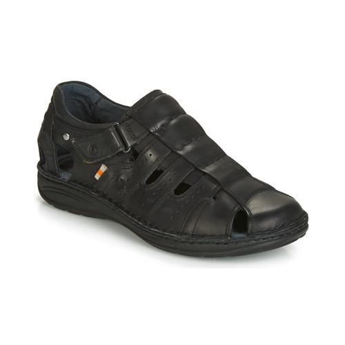pieds Homme Noir Chaussures Casual Nu Attitude Jalayime Sandales Et L354RjA