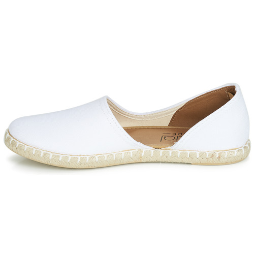 Attitude Espadrilles Jalayive Chaussures Femme Blanc Casual 1cFKlJ