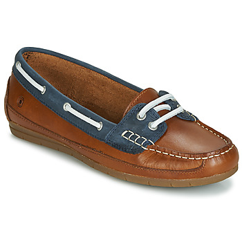 Chaussures Femme Chaussures bateau Casual Attitude JALAYIXE Cognac / Marine