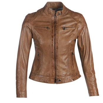 Vêtements Femme Vestes en cuir / synthétiques Oakwood LINA Cognac