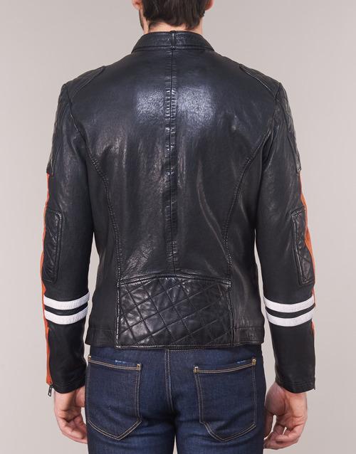 INDIE  Oakwood  vestes en cuir / synthétiques  homme  noir / orange