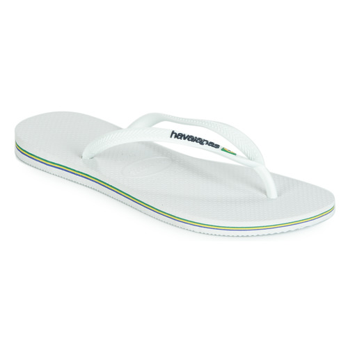 Chaussures Femme Tongs Havaianas SLIM BRASIL LOGO WHITE