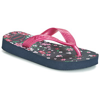 aa8c85ff247 Chaussures Fille Tongs Havaianas KIDS FLORES Marine   Rose