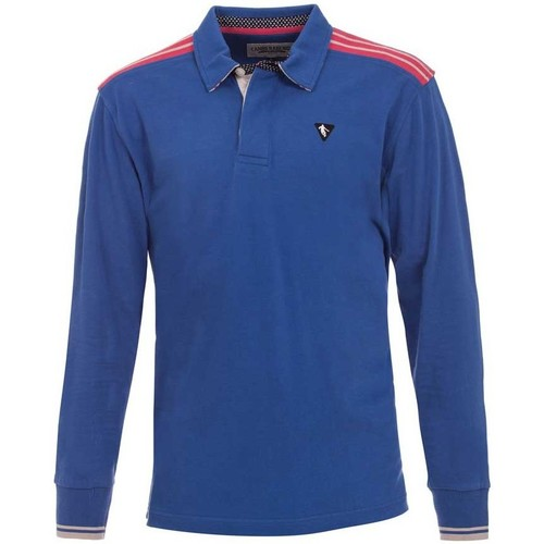 Vêtements Homme Polos manches longues Camberabero Polo rugby manches longues adu Bleu
