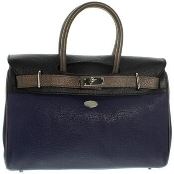Sacs Femme Sacs porté main Mac Douglas Sac à main  Pyla Buni en cuir ref 23066 MUBN Bleu