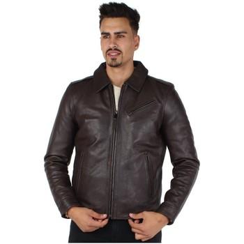 Vêtements Homme Blousons Redskins Blouson  Ranger Starck en cuir ref_44097 Togo Marron