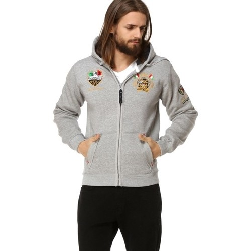 Vêtements Homme Sweats Geographical Norway Veste / Gilet Géographical norway  Gruger Gris Gris