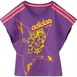 Vêtements Fille T-shirts manches courtes adidas Originals T-shirt  Lg Ag Bb+kid Violet