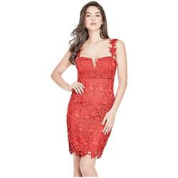 Vêtements Femme Robes courtes Guess Robe Phoebe Rouge W82K17 (rft) 8