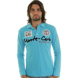 Polos manches longues Geographical Norway Polo Géographical norway Keywest Bleu Turquoise