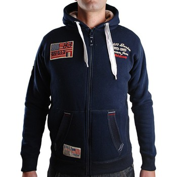 Vêtements Homme Sweats Gangster Unit Veste / Gilet  Fitalio Marine Bleu