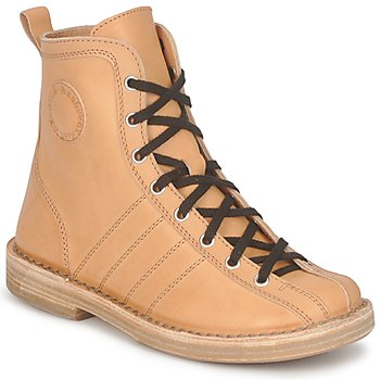 Bottines / Boots Swedish hasbeens VINTAGE BOWLING BOOT Beige 350x350