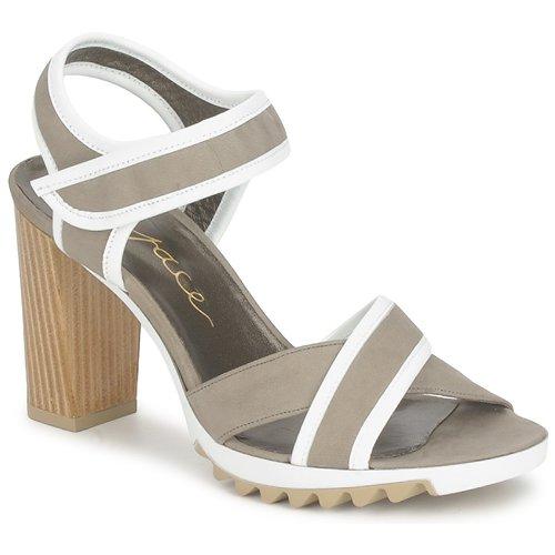 Chaussures Femme Sandales et Nu-pieds Espace GENIEVRE Gris / Blanc