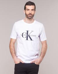 Vêtements Homme T-shirts manches courtes Calvin Klein Jeans MONOGRAM EMBRO W/O BOX REG SS Blanc
