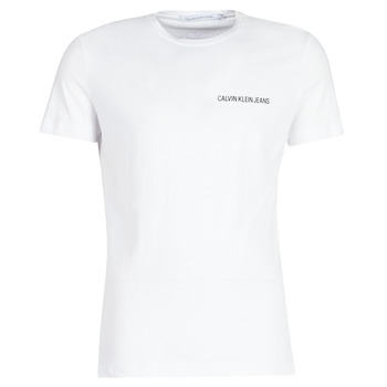 Vêtements Homme T-shirts manches courtes Calvin Klein Jeans CHEST INSTITUTIONAL SLIM SS TEE Blanc