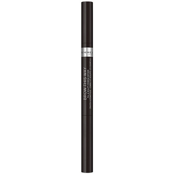 Beauté Femme Maquillage Sourcils Rimmel London Brow This Way Fill&sculpt Eyebrow Definer 004-soft Black 0,25