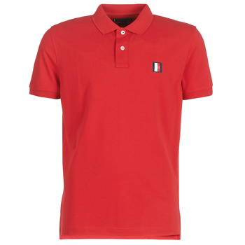 be93fc710f0 Vêtements Homme Polos manches courtes Tommy Hilfiger ICON MINI BADGE  REGULAR POLO Rouge