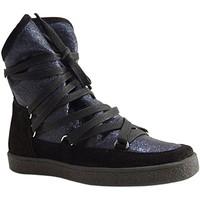 Chaussures Femme Baskets montantes Reqin's - MOONLIGHT LAME - BOTTILLON  LACAGE - BLEU OCEAN BLEU OCEAN