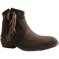 Chaussures Femme Boots Reqin's BAMBA PEAU STAR GRIS