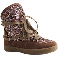 Chaussures Femme Baskets montantes Reqin's MOONLIGHT GLITTER TAUPE