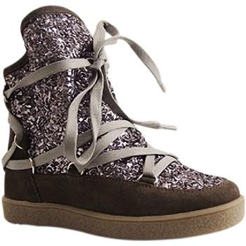 Chaussures Femme Baskets montantes Reqin's - MOONLIGHT GLITTER - BOTTILLON  LACAGE - GRIS GRIS
