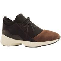Chaussures Femme Baskets montantes Reqin's LEA PEAU BLEU MARINE