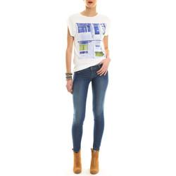 Vêtements Femme T-shirts manches courtes Salsa Top Mc Print Blanc Blanc