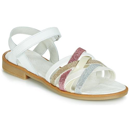Chaussures Fille Sandales et Nu-pieds Citrouille et Compagnie JARILOU Blanc