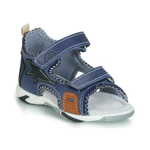 Chaussures Garçon Sandales et Nu-pieds Citrouille et Compagnie JATILEME Bleu clair