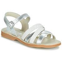 Chaussures Fille Sandales et Nu-pieds Citrouille et Compagnie JARDINA Gris argenté