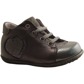 Chaussures Fille Bottines Little Mary - FIFI - BOTTILLON  LACAGE - ARGENT ARGENT