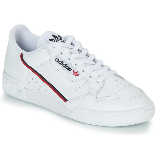 quality design e77a0 7ac0a Chaussures Baskets basses adidas Originals CONTINENTAL 80 Blanc