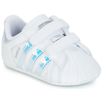 save off cf413 97966 Chaussures Fille Baskets basses adidas Originals SUPERSTAR CRIB Blanc