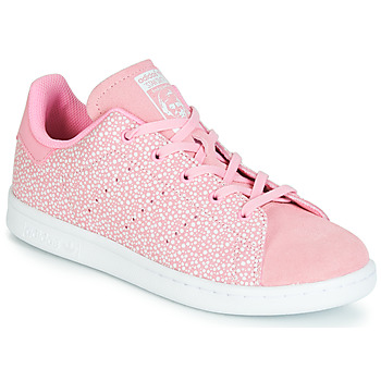 huge discount f98c3 b4237 Chaussures Fille Baskets basses adidas Originals STAN SMITH C Rose