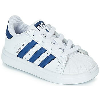 927f46e260b7 Chaussures Enfant Baskets basses adidas Originals SUPERSTAR EL Blanc   bleu