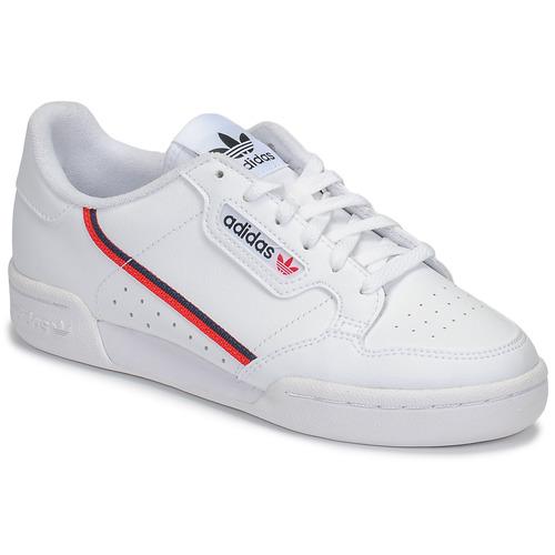 Chaussures Enfant Baskets basses adidas Originals CONTINENTAL 80 J Blanc