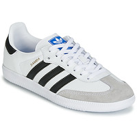 new concept 77a42 f0ec0 Chaussures Enfant Baskets basses adidas Originals SAMBA OG J Blanc   Noir