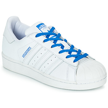 Chaussures Fille Baskets basses adidas Originals SUPERSTAR J Blanc / Bleu