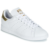 Chaussures Femme Baskets basses adidas Originals STAN SMITH W Blanc / Gold
