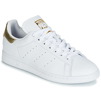 reputable site b96fb ff11d Chaussures Femme Baskets basses adidas Originals STAN SMITH W Blanc  Gold