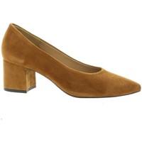 Chaussures Femme Escarpins Pao Escarpins cuir velours Cognac