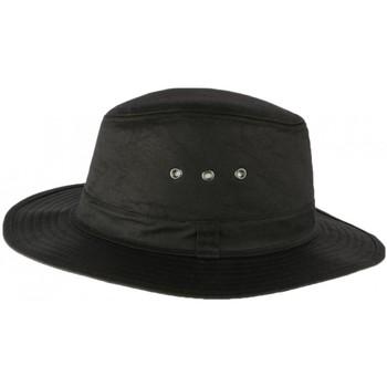 Accessoires textile Chapeaux Nyls Création Chapeau Huilé noir traveler esprit Brousse Travys Noir