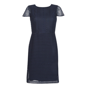 Vêtements Femme Robes courtes Lauren Ralph Lauren NAVY SHORT SLEEVE DAY DRESS Marine