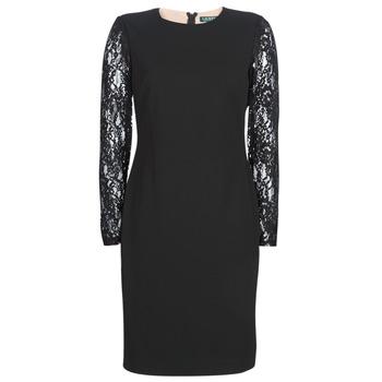 Vêtements Femme Robes courtes Button-trim Crepe Dress LACE PANEL JERSEY DRESS Noir