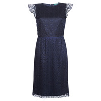 Vêtements Femme Robes courtes Lauren Ralph Lauren LACE CAP SLEEVE DRESS Marine