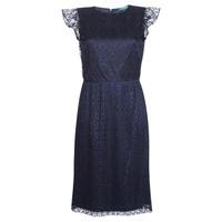 Vêtements Femme Robes courtes Button-trim Crepe Dress LACE CAP SLEEVE DRESS Marine