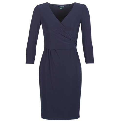 Vêtements Femme Robes courtes Lauren Ralph Lauren 3/4 SLEEVE DAY DRESS Marine