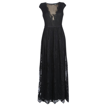 Vêtements Femme Robes longues Lauren Ralph Lauren CAP SLEEVE LACE EVENING DRESS Noir